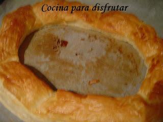 Tortel de Reyes de crema de chocolate y turrón / Tortel de hojaldre con nata