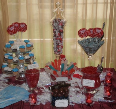 We have been busy this holiday season making candy buffets for different