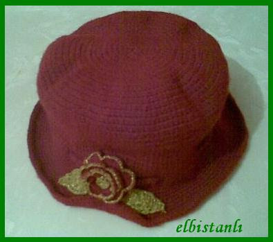 tığ işi şapka bere