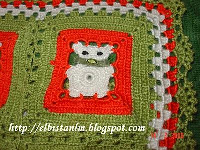 tığ örgü bebek battaniyesi