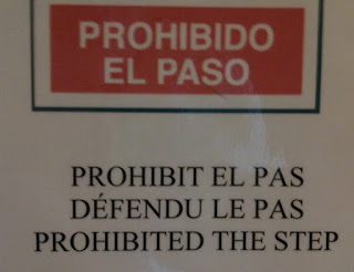 Prohibited the step