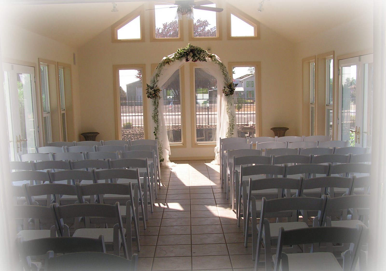 our wedding venue, inside