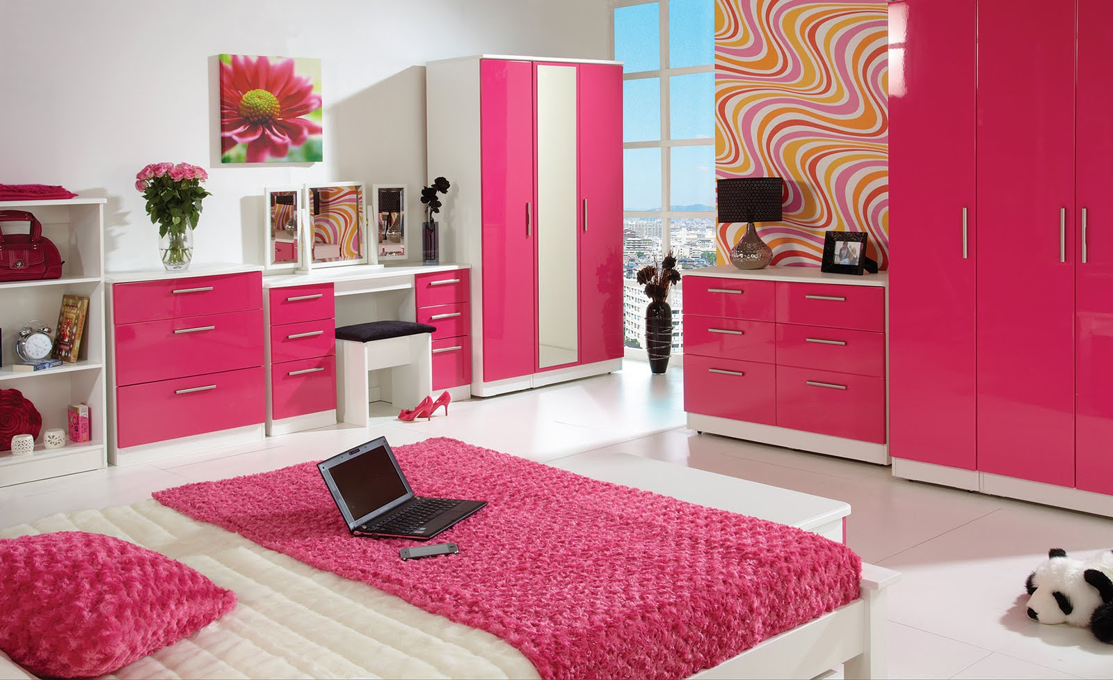 home furnishings from furniture store 247 pink high gloss
