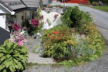 inngangen til hagen vår