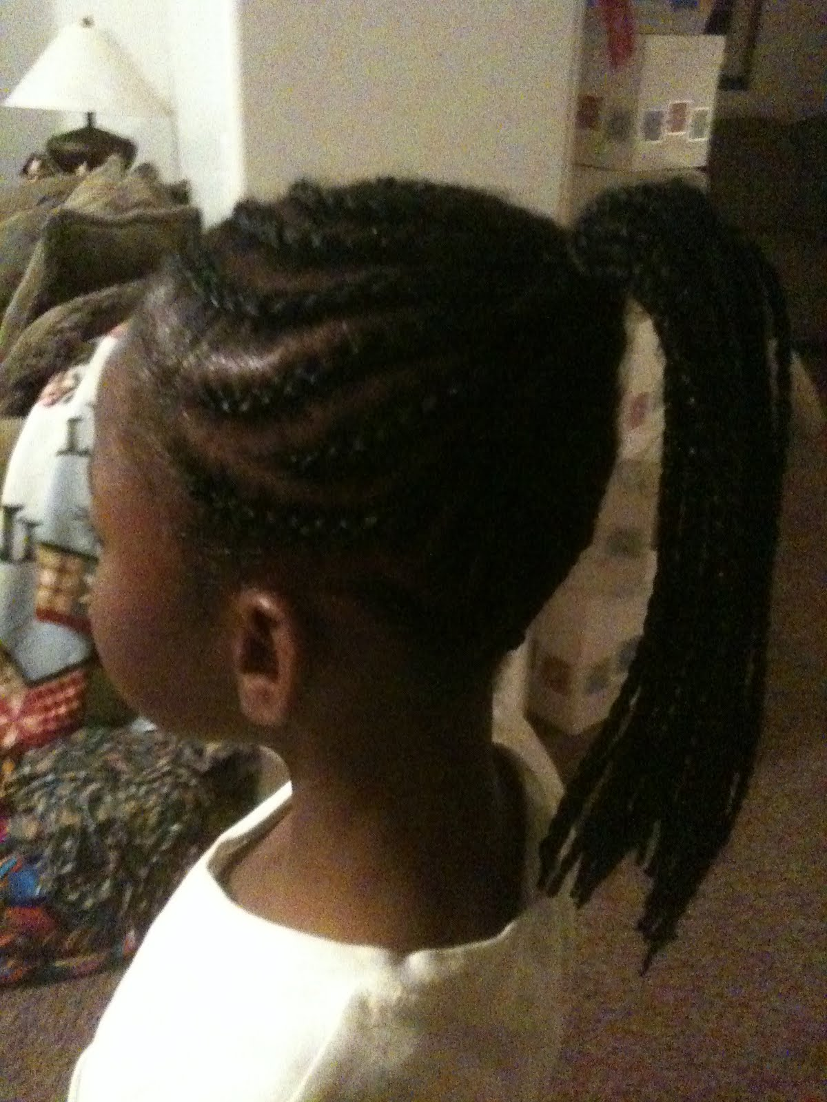 Cornrow Braids with Ponytail