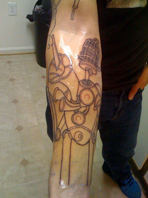 brown tattoo. Tattoo done by Kenny Brown of