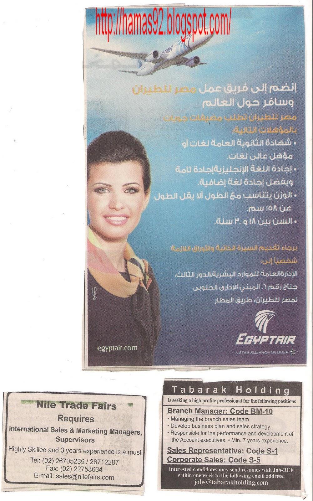 وظائف اهرام الجمعه 14 يناير 2011 - وظائف خاليه: http://hamas92.blogspot.com/2011/01/14-2011_13.html