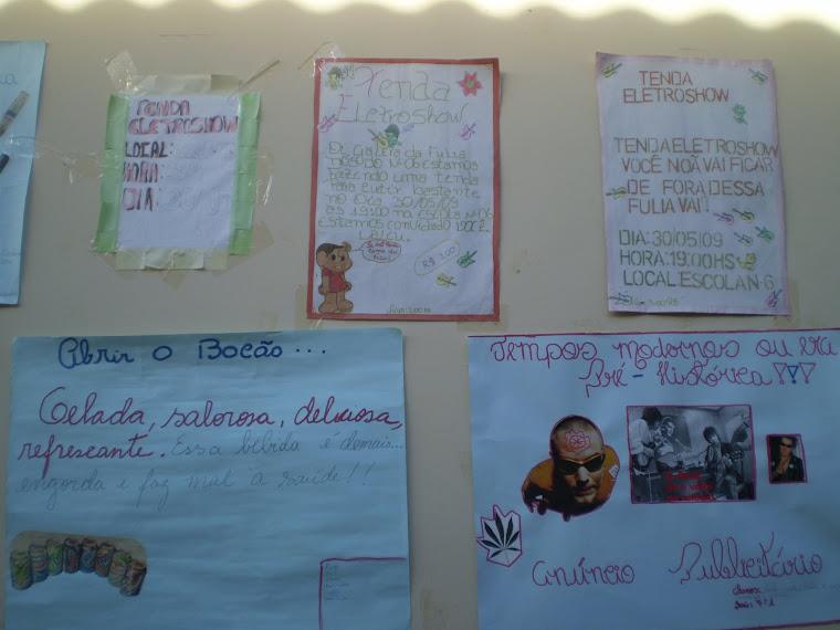 Anúncios e Cartazes dos Alunos do NM-6. Gestar II