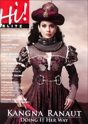 Kangana Ranaut Hi Blitz Magazine Cover April 2010