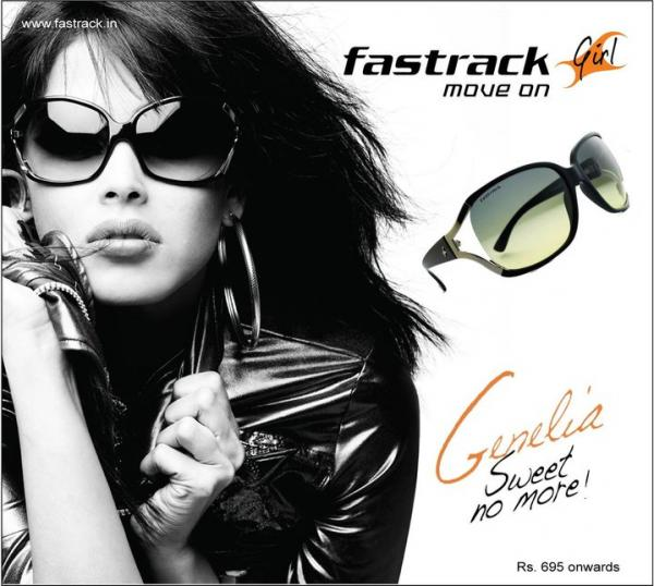 Bollywood Wallpapers Unlimited: Genelia DSouza Fast Track Sunglass Ad