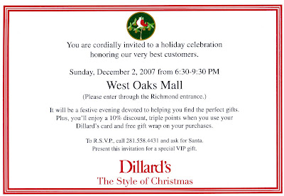 The fashionista project dillards vip invitation dillards west oaks mall has extended a special invitation to fashionista subscribers once again there are definite benefits to being a part of the stopboris Choice Image