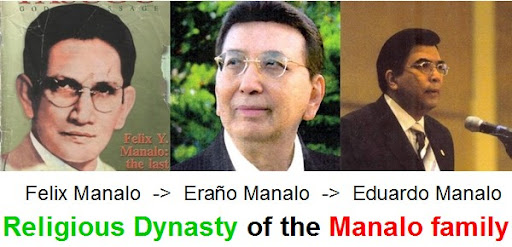 Iglesia Ni Cristo, Manalo family, politics, corruption, government, dictatorship