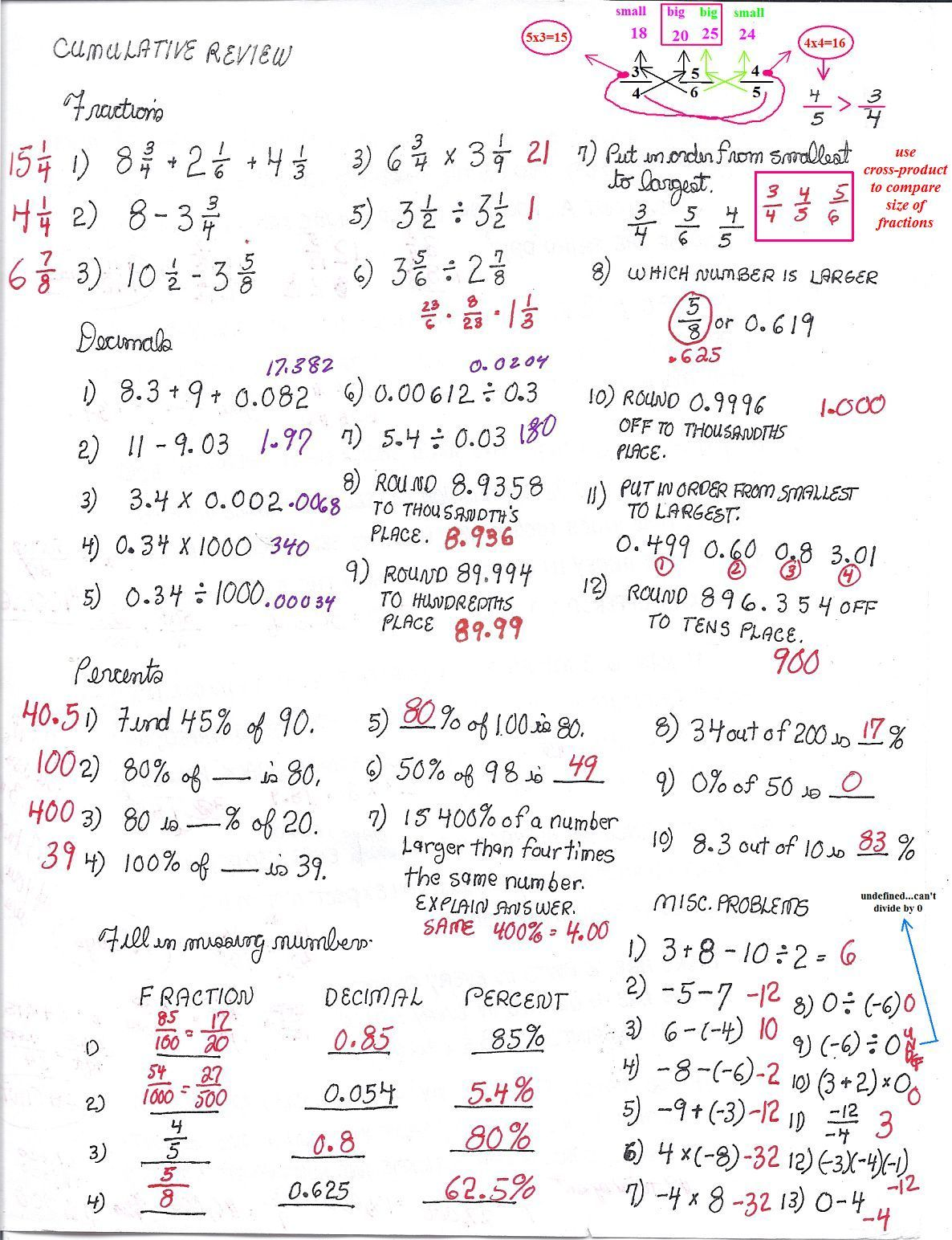 Cobb Adult Ed Math: 2010-08-29