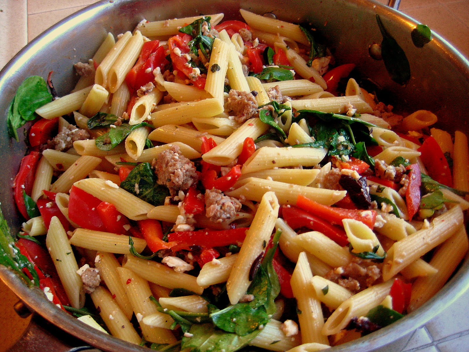 Barrister Bites: Sausage, Pepper, & Feta Pasta