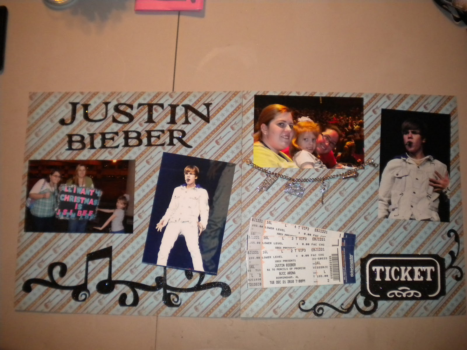 Jeans Crafty Corner Concert Layouts From Justin Bieber