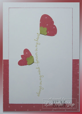 Card made using Stampin' Up! Suppies