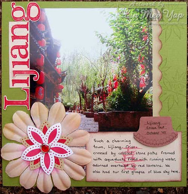 Scrap page of Lijiang using Stampin' Up! Supplies