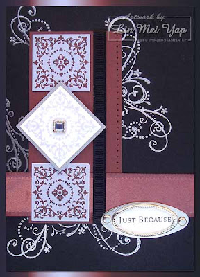 Practically Purple Pumps Card using Stampin' Up! supplies