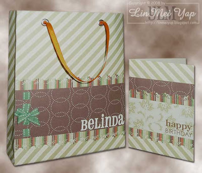 Card and Gift Bag for Belinda