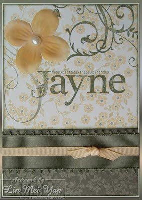 Card for Jayne using Stampin' Up! Supplies