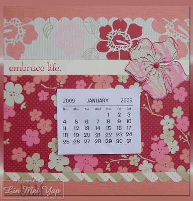 Calendar made using Stampin' Up! Supplies