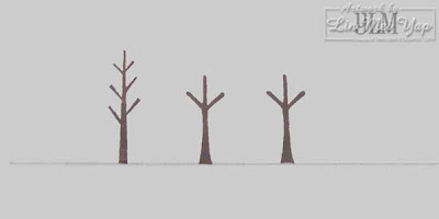 Stampin' Up! Trendy Trees trunks first