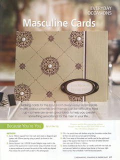 Cardmaking Stamping & Papercraft Vol 14 No 9 Masculine Gallery Card By Lin Mei Yap Pg 69