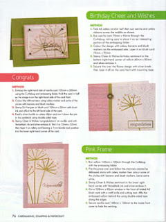 Cardmaking Stamping & Papercraft Vol 15 No 3 Coloured Cuttlebug Cards By Lin Mei Yap Pg 76