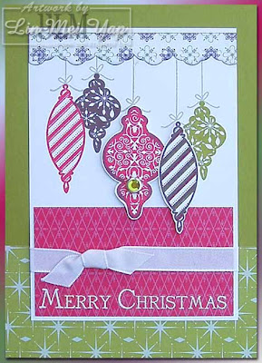 Card made using Stampin' Up! Tree Trimmings set and Stamp-A-Ma-Jig