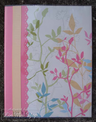 Notebook covered using Stampin' Supplies