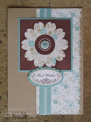 Card made using emerging colour technique and Stampin' Up! supplies