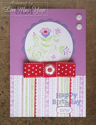 Card made using supplies from Stampin' Up! Australia Spring and Summer Minis 2009
