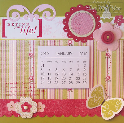 Calendar made using Stampin' Up! Sweet Nothings Simply Scrappin' Kit