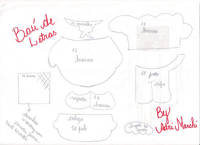  BA DE LETRAS::. E.v.a. e Scrapbook: Caderno de Receitas e Molde de
