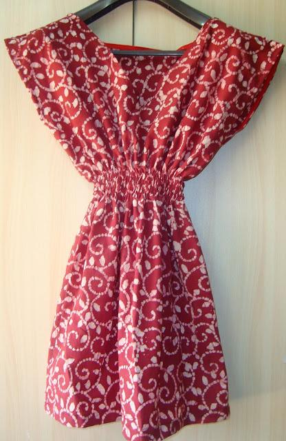 shirred shirt dress