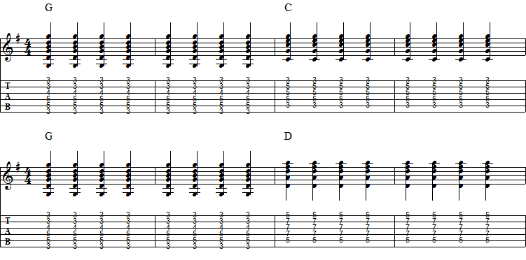 4 Bass Runs For Bar Chord Progressions - Not Playing Guitar