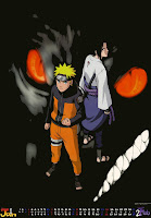 Naruto and Sasuke Calender 2009
