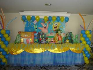Creaciones infantiles decoracion de bob esponja - Decoracion bob esponja ...