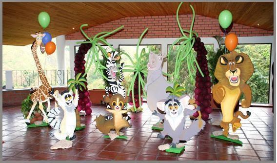 Creaciones infantiles decoracion animales de la selva - Cabezas de animales decoracion ...