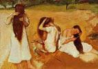 Tres mujeres peinándose 1875-1876, Edgar Degas
