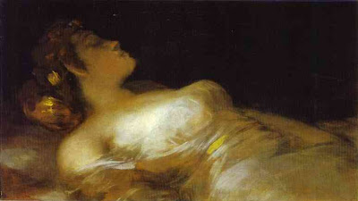 Francisco de Goya. Sleep. c. 1800. Oil on canvas, 44.5 x 77 cm. National Gallery of Ireland, Dublin, Ireland.