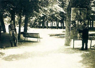 Jardines de la Granja de San Ildefonso, el rey Alfonso XIII y Sorolla, verano de 1907, Segovia