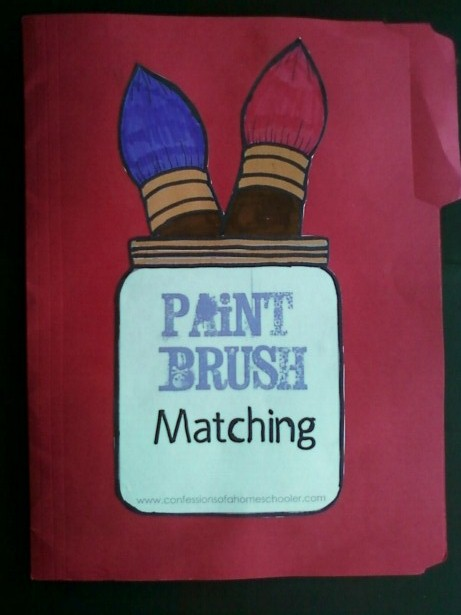 paint brush match file folder game umm abdul basir 39 s