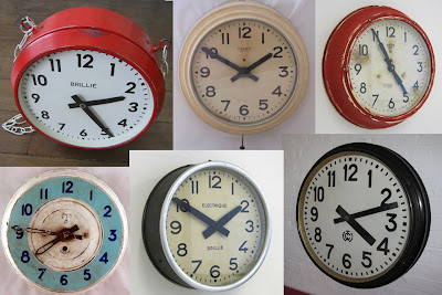 Above: From Clock Props In London, Where You Can Hire Clocks As Props Or Buy  Them For Your Home. Clockwise From Top Left: 1930s Two Sided Wall Clock  £650, ...