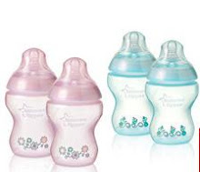 TOMMEE TIPPEE TINTED FEEDING BOTTLE