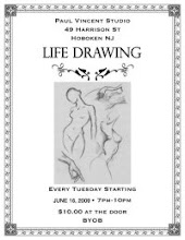 TUESDAYS: Life Drawing Classes at Paul Vincent Studios (Hoboken)