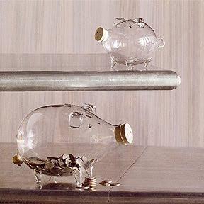 Ideias: Porquinho de vidro