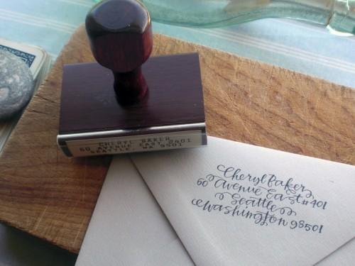 Lista de Desejo: Carimbo de endereço