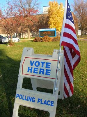 Central Middle School in Plymouth on Election Day morning. (Photo: North Star Liberty)