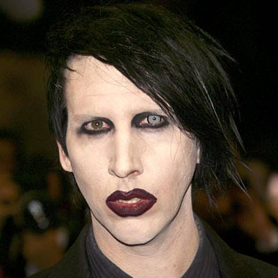 marilyn manson with no makeup. makeup like Marilyn Manson